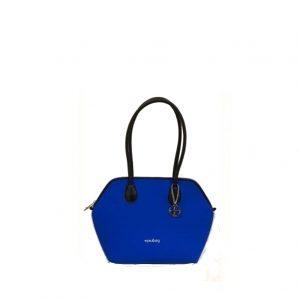 9ffdc0d4aa Borsa shopping donna PIUBAG neoprene mod. Genova Mini fantasia Blu  Baltimora. Borsa a spalla