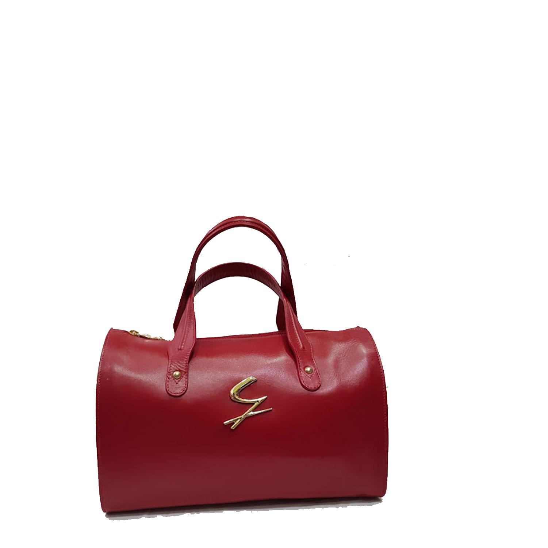 più foto 9d936 f5d6f Dettagli su Borse donna Gattinoni pelle bauletto Rosso borsa a mano  Tracolla Rossa elegante
