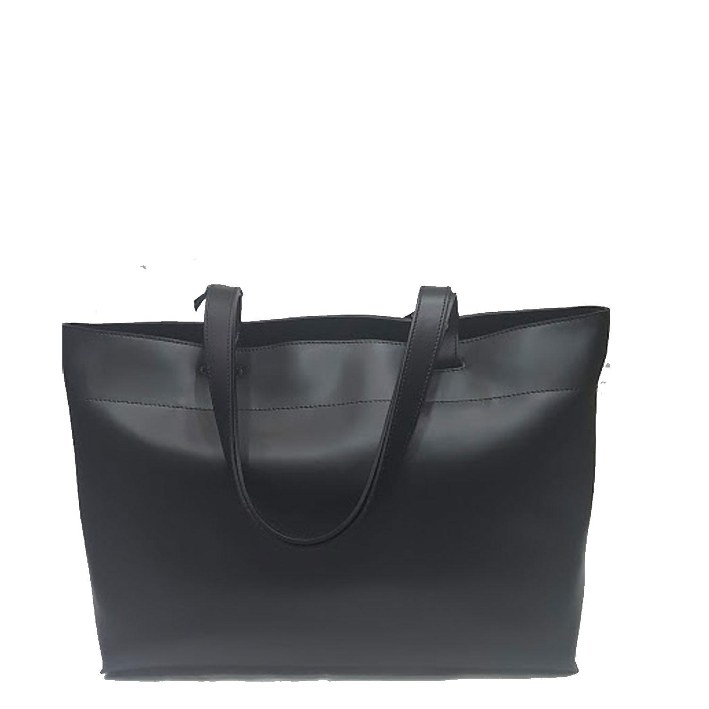 Sconto del 60% vari design scopri le ultime tendenze Dettagli su Borse donna pelle Gattinoni Nera Spalla Shopper bag borsa  shopping elegante zip