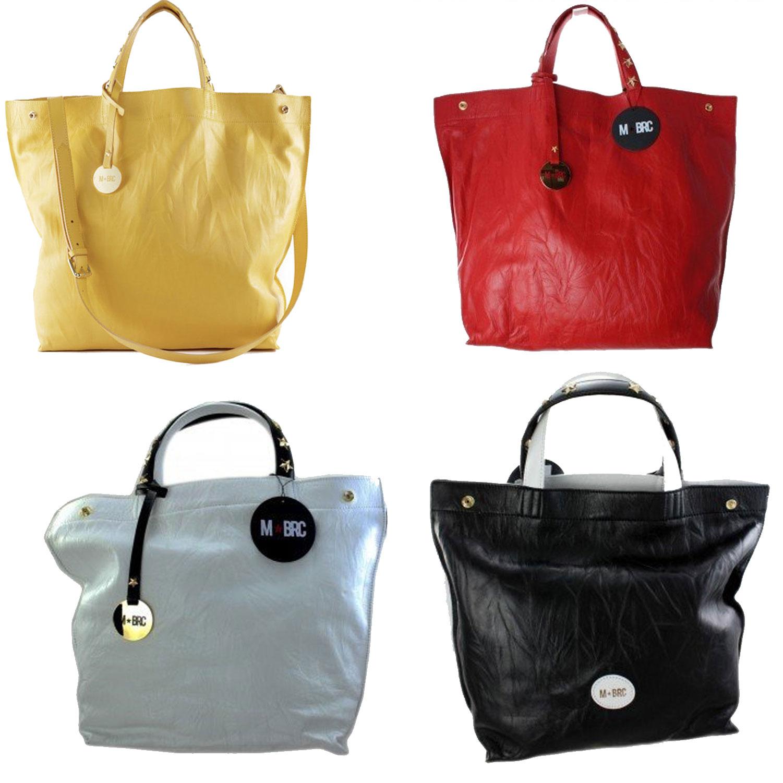 c96ba52ff7 Borse donna pelle grande Braccialini Borsa Tracolla spalla rossa gialla  nero bag