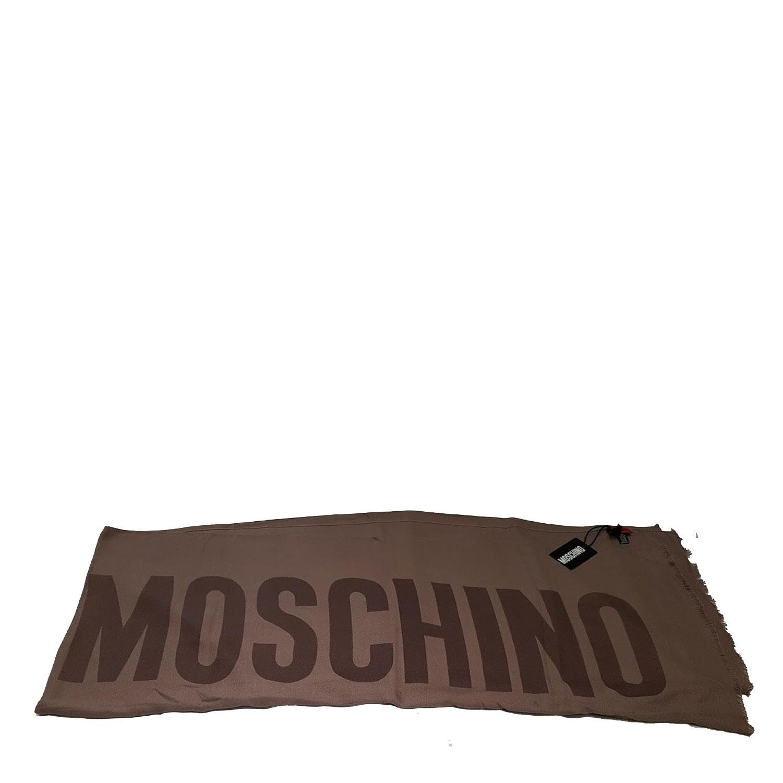 più recente 851a6 2b666 Sciarpa Moschino uomo donna scarf marrone classica taupe scialle ...