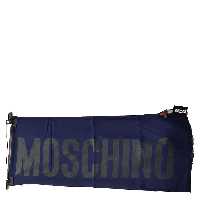 nuovo stile e5ac5 95fc3 Sciarpa Moschino uomo donna scarf blu logo classica scialle ...
