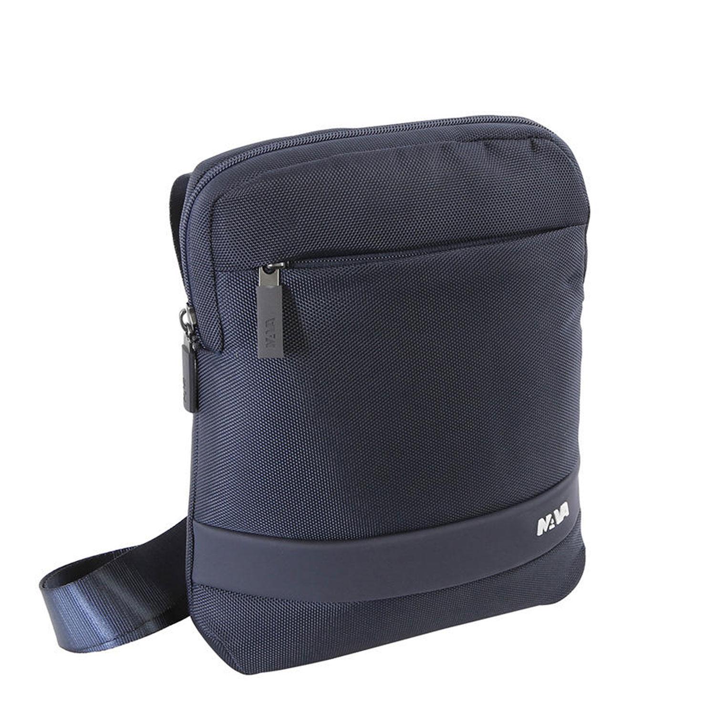 vasta selezione di 70d42 bd3e7 Dettagli su Borsello Tracolla uomo Nava Design Blu borsa spalla porta ipad  marsupio