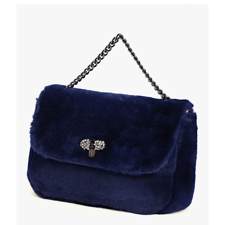 34be95e296453f Borsa donna in ecopelliccia Mya Accessories Blu pochette