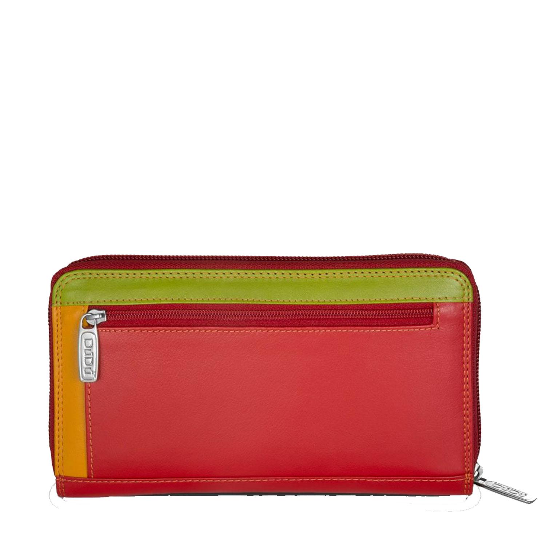 e8171b03e3 Portafoglio donna pelle grande Dudubags con cerniera rosso portamonete carte