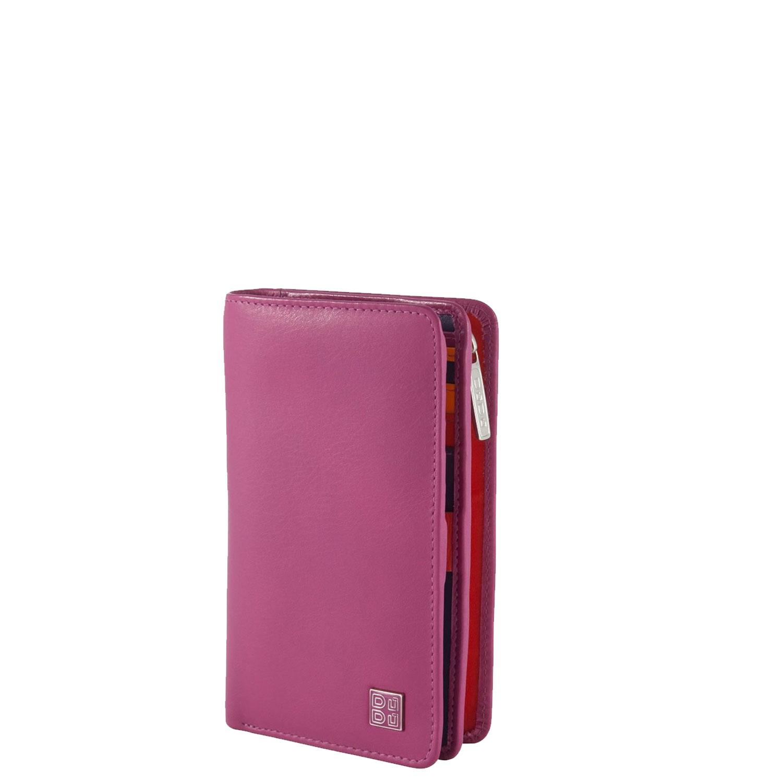a5576ccc23 Portafoglio donna in pelle Dudubags Fucsia piccolo portamonete porta carte