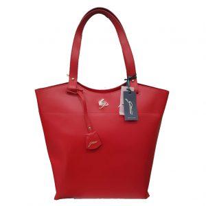 c2a822e309 Borsa donna a spalla Gattinoni Linea Pelle di colore Rosso