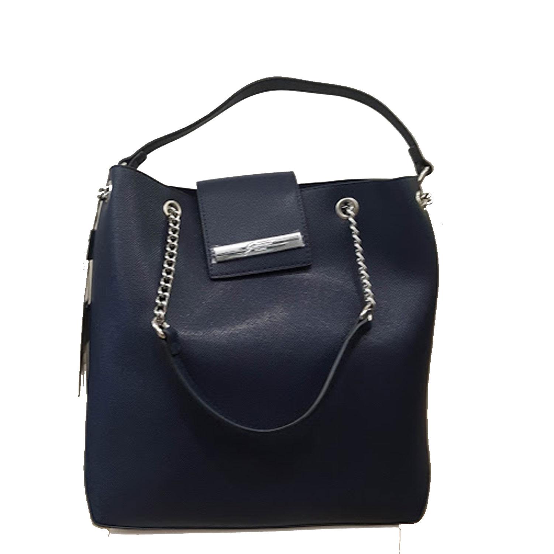 sito affidabile ca3d9 0a33e Dettagli su Borse donna a spalla Gattinoni Roma Blu shopping Borsa a mano  grande hobo bag