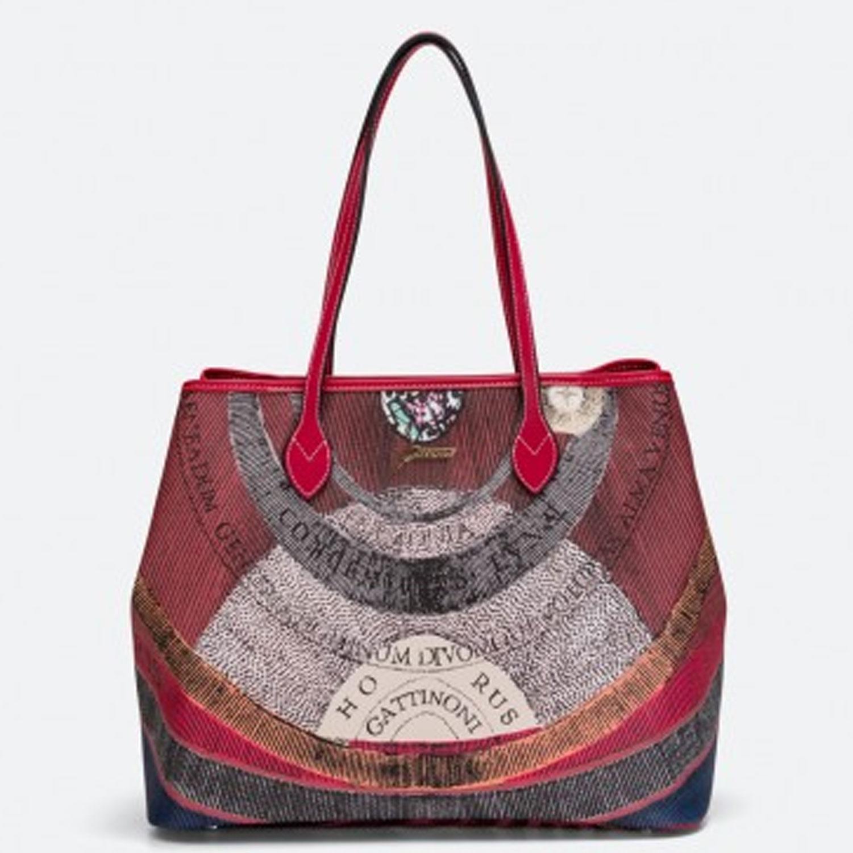 39b786ec1d Borse donna spalla Gattinoni planetarium borsa shopper rossa grande shopping