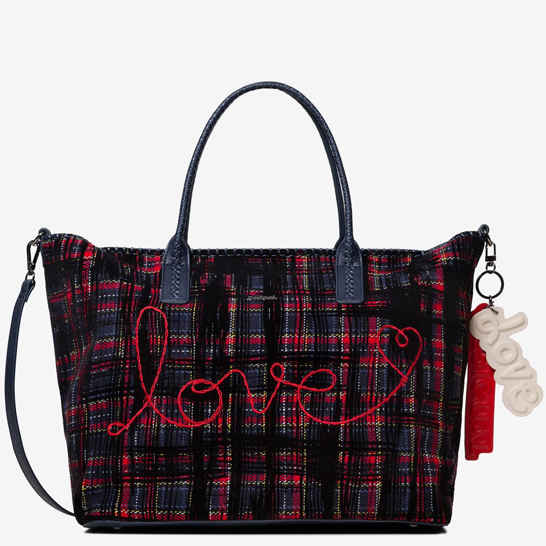 Borse Donna.Borse Donna A Spalla Desigual Tartan Rossa Blu Borsa Grande Shopping Bag Tracoll Ebay